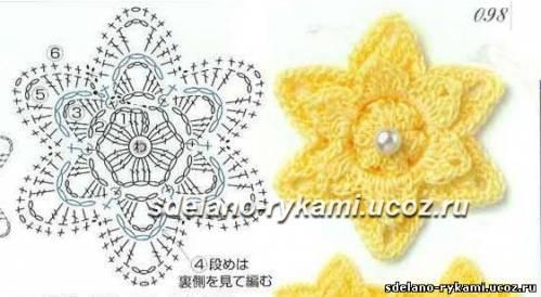 и схема к желтому цветочку: